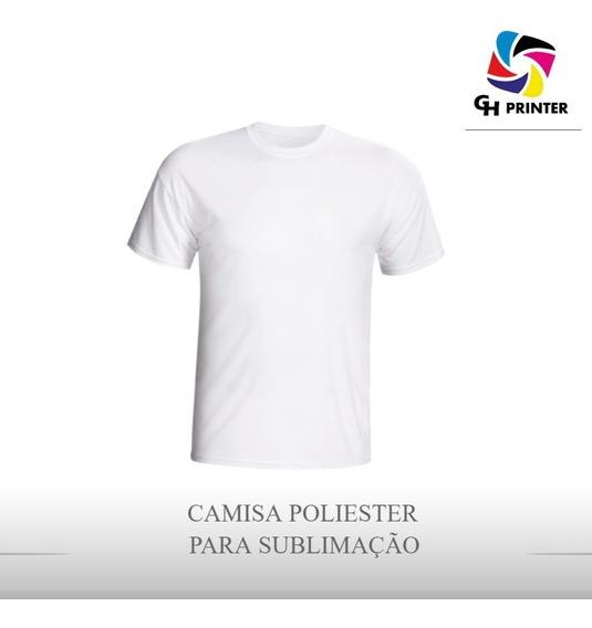 Camisa Poliester Branca Para Sublimação 10 Unidades Promoção