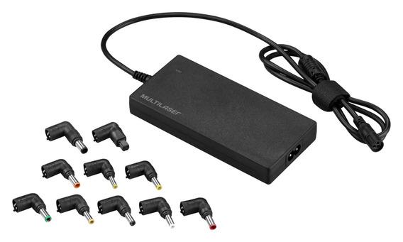 Fonte Universal Para Notebook Slim Automotivo 90w/ 12 Conect
