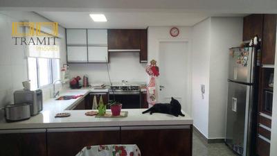 Apartamento Lindo 107 Metros 3 Suítes E 2 Vagas Ao Lado Do Shopping Atrium Em Santo André No Bairro Homero Thon - Ap0894