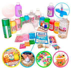 Slime Super Kit Slime Kids Brasil Com Bórax Extra