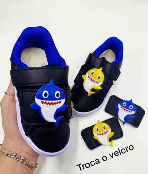 Tênis Baby Shark Infantil Troca Velcro Menino/menina
