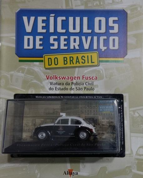 Miniatura Volkswagen Fusca Polícia Civil De São Paulo