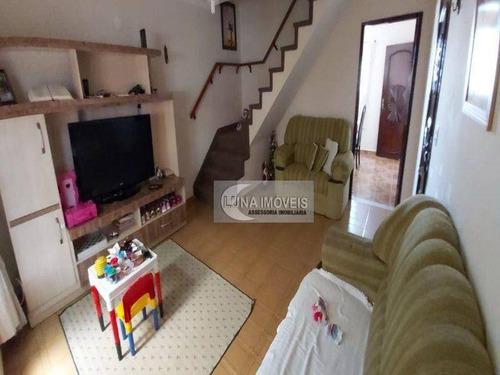 Imagem 1 de 20 de Sobrado Com 3 Dormitórios À Venda, 174 M² Por R$ 550.000,00 - Jardim Stella - Santo André/sp - So0782
