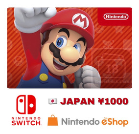 Cartão Nintendo Eshop Japonesa 1000 Ienes