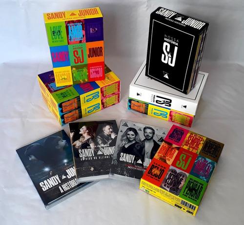 Imagem 1 de 7 de Dvd Sandy E Junior - Box Nossa História Deluxe Frete Grátis