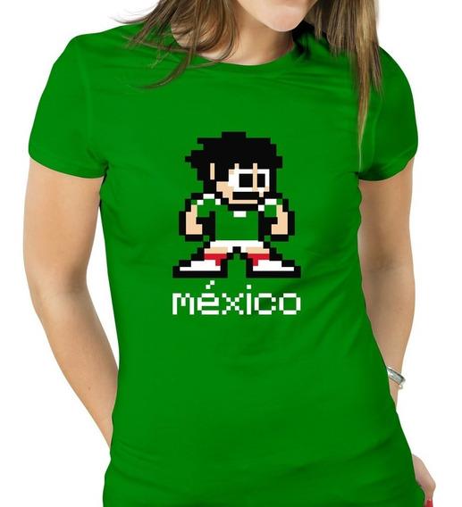 Playera México Pixel Selección Mexicana Apoyar A México