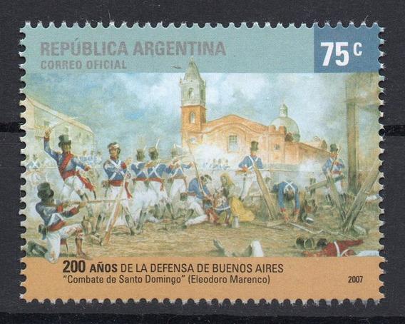 Argentina 2007 Gj 3606** Mint Combate Santo Domingo A