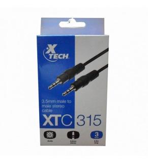 Xtech Cable Audio Stereo 3.5mm Macho Macho 0.9mt Xtc-315