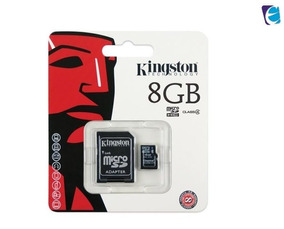 Cartao De Memoria Kingston 8gb Sdc4/8gb Micro Sd C/adpatador