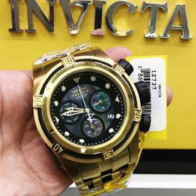 Relógio Invicta 12737 Dourado Aço Inox Ouro 18k - Bolt Zeus