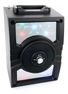 Parlante Portátil Wireless Recargable Altavoz Kts-869 + Cuot