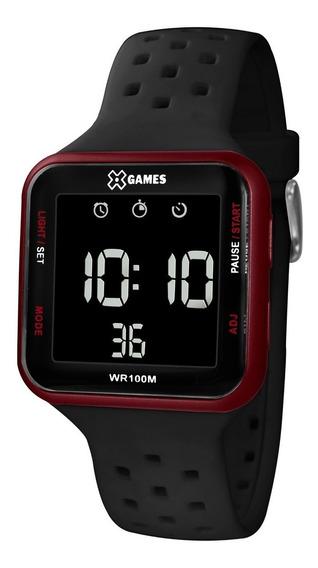 Relógio X-games Unissex Digital Xgppd101 Vermelho Negativo