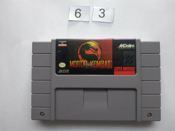 Mortal Kombat Original Snes - Super Nintendo