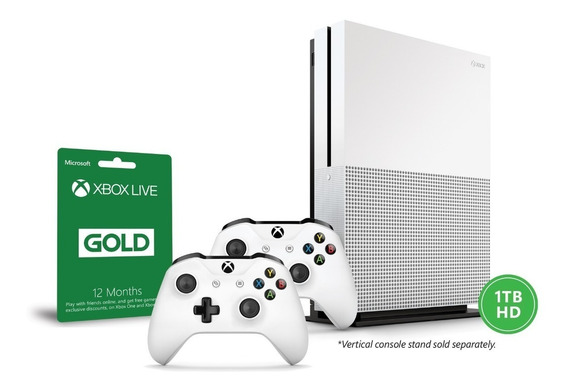 Xbox One S 1 Tb - 2 Controles + Live Gold 12 Meses