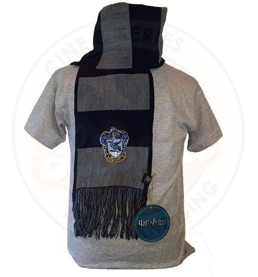 Bufanda De Ravenclaw Original Rayada C/escudo Harry Potter