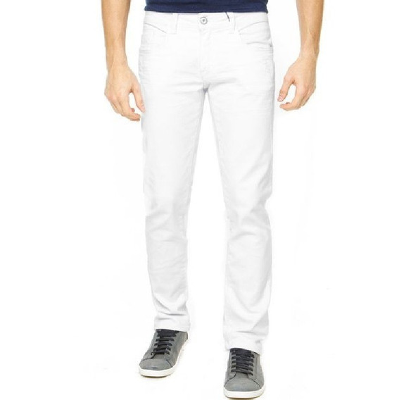 Calça Jeans Sarja Com Lycra Masculina Plus Size