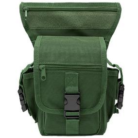 Mochila Piernera Tactica Estilo Militar Color Verde D3042
