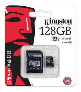 Cartão De Memoria Kingston Micro Sd 128gb 80mb Sdc10