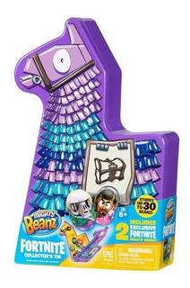 Mighty Beanz Estuche De Metal Llama Fortnite Incluye 2 Beanz