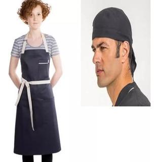 Delantal,delantales Combo Chef, Cocina, Gabardina