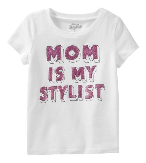 Oshkosh Remeras Nenas Glitter Mom