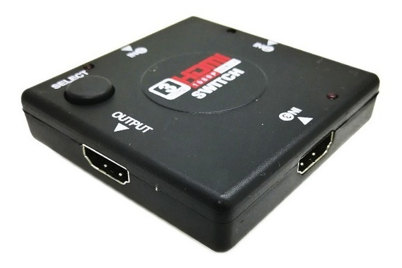Switch Hdmi 3x1 - V1.4 3entrada 1salida Full Hd 1080p
