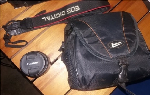 Lente Canon 18-55 + Bolsa + 1 Bateria E Alça