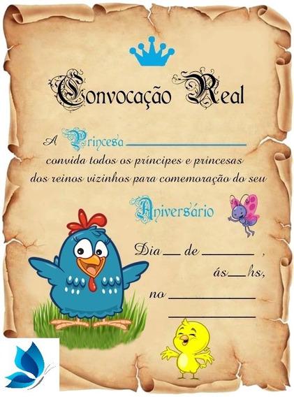 40 Festa Galinha Pintadinha Convite Aniversário Princesa