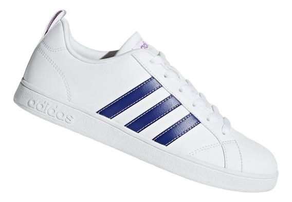 Zapatilla adidas Vs Advantage Para Dama - Blanco Y Lila