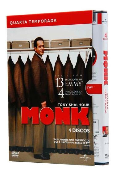 Box Dvd Monk - 4ª Temporada - 4 Dvds- Lacrado - Original