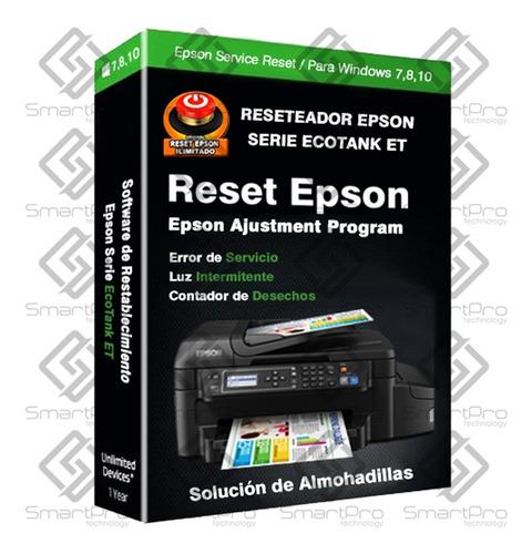 Imagen 1 de 6 de Reset Epson Et4500 Et4550 M105 M205 Rx580 Wf3720 L210 L110