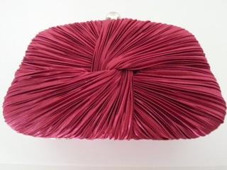 Bolsa Clutch Festa Drapeada Rosa Escuro Fechado