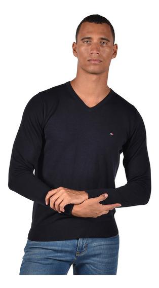 Suéter Cotton Silk Tommy Hilfiger Azul Mw0mw04979-403 Hombre