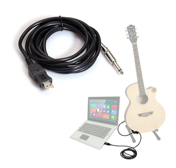 3m Guitarra Para Pc Cabo De Gravação Usb Adaptador Conversor