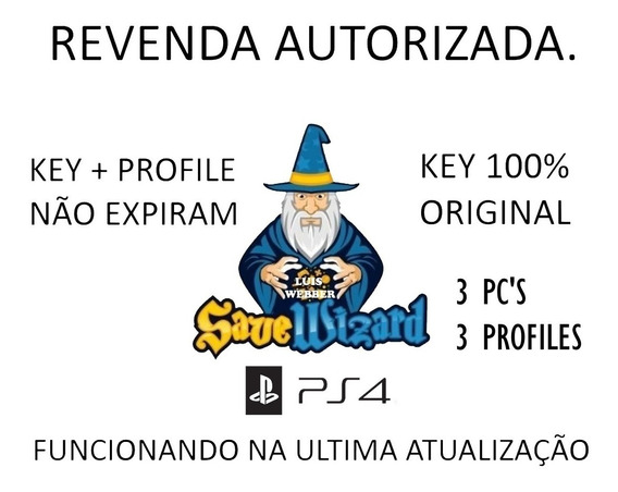 Save Wizard Max Ps4 - Save Editor - Chave Completa Original.
