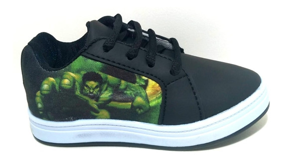 Ténis Infantil Hulk Mais Brinde Um Par De Meia