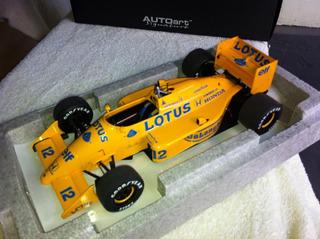 Miniatura De Formula 1 Lotus 99t Senna 1/18