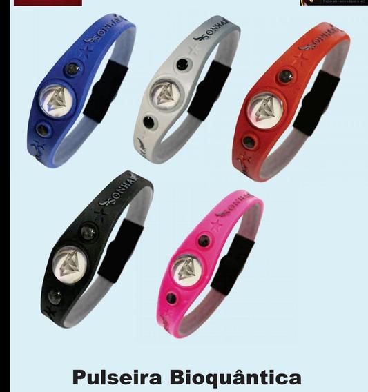 Kit 10 Pulseira Bioquantica Reajustavel Varias Cores