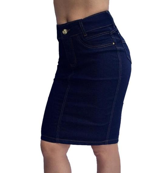 Saia Jeans Moda Evangélica Modela Bumbum Frete Grátis