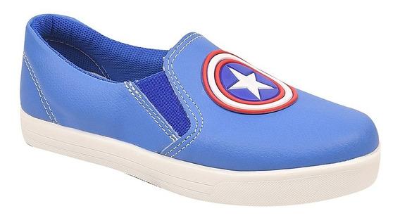 Tênis Infantil Menino Super Heróis Capitão América Ref 16201