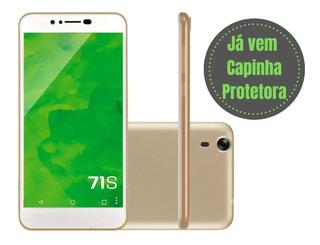 Smartphone Mirage 71s 3g Quadcore Tela 5.5 Android Dourado