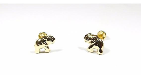 Aretes Elefante Oro Macizo 10k