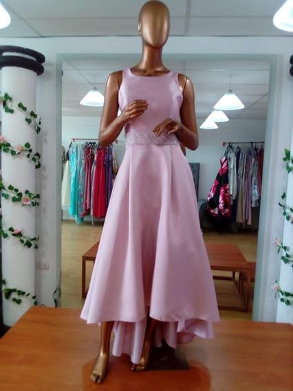 Vestido Cocktel Estilo Vintage Color Palo De Rosa