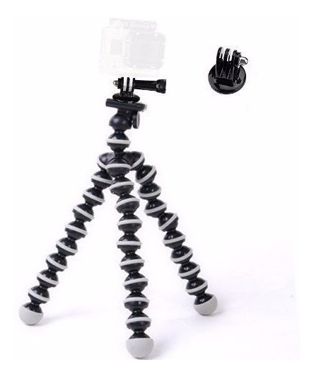 Kit Mini Tripé Flexível Gorillapod Para Gopro Black Session