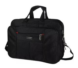 Maletín Portafolio Porta Notebook 16 Reforzado Con Fuelle