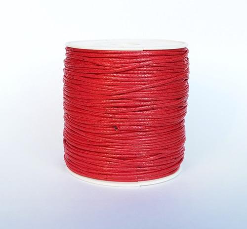 Imagen 1 de 1 de Hilo Encerado Rojo Grueso 1.5mm 100 Metros