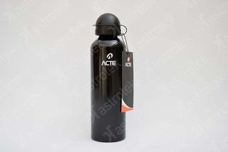 Squeeze Em Aluminio Garrafa 750ml Prata E Preta Acte