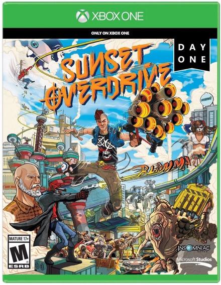 Jogo Xbox One Mídia Física Lacrada Sunset Overdrive Xone Day