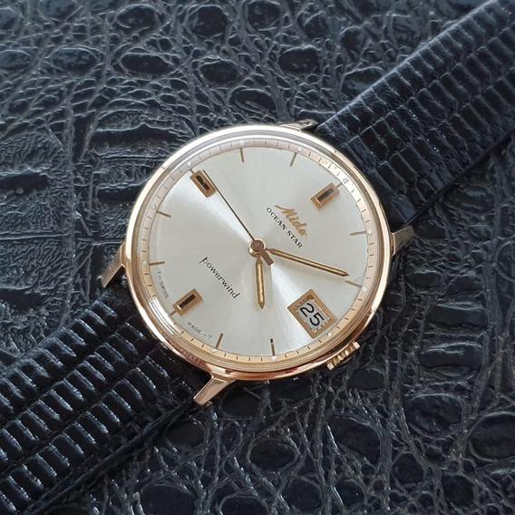 Relógio Vintage Mido Ocean Star Ouro 18k Maciço