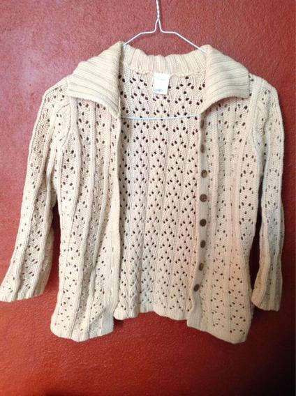 Suéter Crochet Beige Old Navy Xs